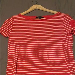 Pink white stripe Ralph Lauren tshirt